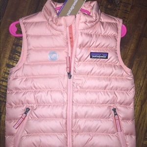 Patagonia Pink Puffy Vest- 2T